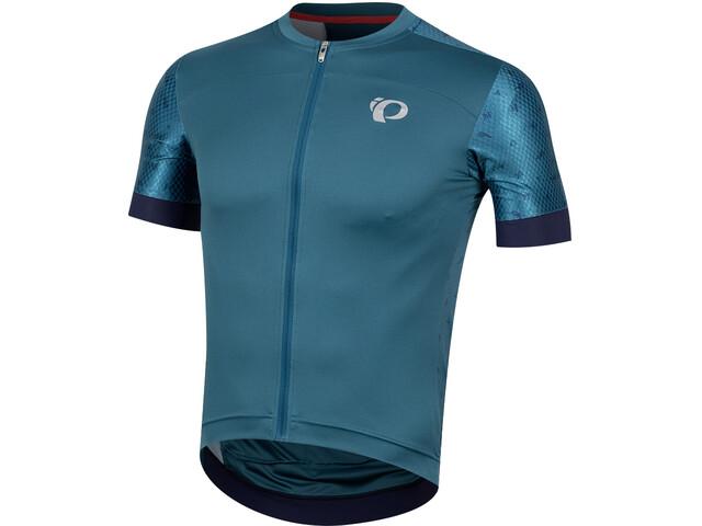 PEARL iZUMi Elite Pursuit Speed Kortærmet cykeltrøje Herrer, teal/navy paisley